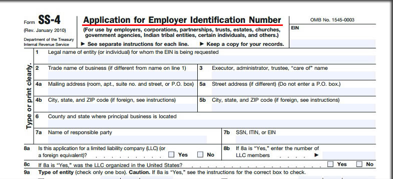 how to apply tax identification number